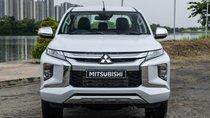 Bán Mitsubishi Triton 2019, màu trắng, nhập khẩu nguyên chiếc, giá tốt 730 triệu đồng, góp 90%