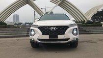 Hyundai Cẩm Lệ - Hyundai Santa Fe cao cấp máy dầu 2019, màu trắng, giá tốt, xe giao ngay