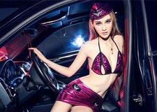 Mỹ nhân khoe body sexy bên siêu xe Porsche Cayenne độ
