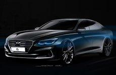 Hyundai Azera thế hệ mới rò rỉ phác họa chính thức