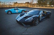 Màn 'so dáng' của bộ đôi siêu xe Ford GT Heritage Edition giá hơn 10 tỷ