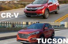 So sánh xe Honda CR-V 2017 và Hyndai Tucson 2017: Tỷ số thắng - thua quá mong manh