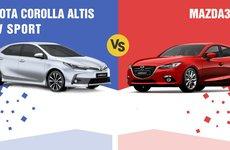 So sánh xe Mazda3 2017 và Toyota Corolla Altis 2017: Chọn thương hiệu hay giá bán?
