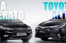 Đại chiến Nhật -Hàn:Toyota Corolla Altis 2017 và Kia Cerato 2017, nên mua xe nào?