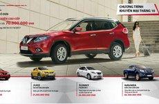 Nissan tiếp tục khuyến mại 70 triệu đồng đầu tháng 10