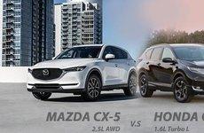 Đọ sức Mazda CX-5 2018 và Honda CR-V 2018 phiên bản mới về Việt Nam