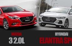 So sánh thông số kỹ thuật của Mazda 3 2.0L và Hyundai Elantra Sport 2018 tại Việt Nam