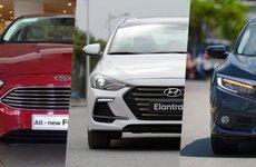 So sánh thông số Honda Civic, Hyundai Elantra Sport và Ford Focus