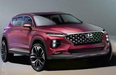 Hyundai Santa Fe 2019 hé lộ ảnh concept ấn tượng trước khi ra mắt vào tháng 3