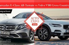 ''Cân đo'' Mercedes E-Class All-Terrain và Volvo V90 Cross Country 2018