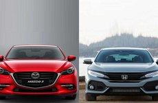 So sánh thông số kỹ thuật xe Honda Civic 1.8E và Mazda 3 2.0L