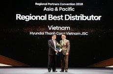 Hyundai Thành Công nhận giải nhà phân phối xuất sắc nhất năm 2017