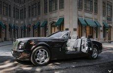 Rolls-Royce Phantom Drophead Coupe nâng cấp phủ màu anh đào ấn tượng