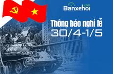 Oto.com.vn thông báo nghỉ lễ 30/4 và 1/5/2018
