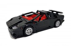 Ngắm chiếc Lamborghini Diablo được lắp ráp hoàn toàn từ Lego