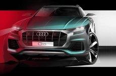 Mặt trước của Audi Q8 2019 chính thức được tiết lộ