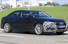 Audi A4 2019 facelift khoe thân trên đường thử với lớp ngụy trang mỏng manh
