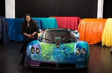 Pagani Zonda S đẹp như tranh vẽ nhờ tay nghệ nhân Ả-Rập