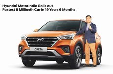 Hyundai xuất xưởng chiếc xe thứ 8 triệu tại Ấn Độ