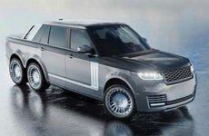 Xe độ Range Rover sáu bánh đang gây sốt trong làng xe hơi