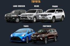 Điểm nhanh những mẫu ô tô ế tháng 5/2018: 5 xe Toyota nhập đều có doanh số bằng 0