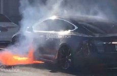 Xe điện Tesla Model S bốc lửa giữa đường, Elon Musk gặp rắc rối
