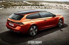 Peugeot 508 Shooting Brake trông như thế nào qua bản dựng của X-Tomi Design?