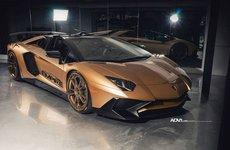 Ngắm Lamborghini Aventador LP rực rỡ với màu sơn Matte Gold tại Canada