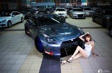 Mỹ nữ lăn mình cùng mãnh thú tốc độ Nissan GTR R35