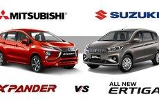 Cân đo thông số cơ bản của Mitsubishi Xpander và Suzuki Ertiga 2018