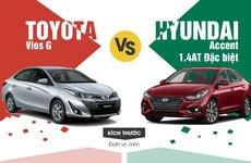 Nên mua Toyota Vios hay Hyundai Accent 2018 tốt hơn?