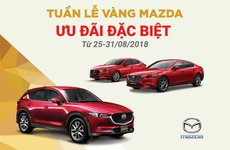 Mazda tặng bảo hiểm và phụ kiện trong tuần cuối tháng 8/2018