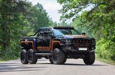 Bán tải Chevrolet Silverado Bureko Brutal 6x6 cực ngầu với 6 bánh