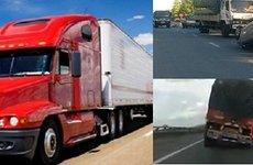 Hiểm hoạ khôn lường khi di chuyển gần xe tải