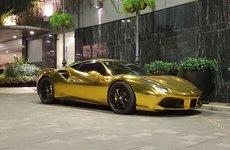 Ferrari 488 GTB của đại gia Tiền Giang nổi bật trong bộ cánh 'dát vàng'