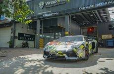 'Siêu bò' Lamborghini Aventador thay decal cổ vũ tinh thần đội tuyển Việt Nam trước trận chung kết