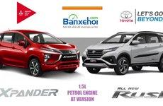 So sánh xe Mitsubishi Xpander và Toyota Rush
