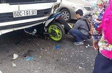 Đầu xe tải 'nuốt gọn' phượt thủ khi đang đổ đèo Bảo Lộc