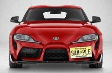 Toyota Supra 2020 không có chỗ lắp biển xe!