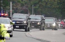 Cận cảnh siêu xe The Beast của Tổng thống Mỹ xuất hiện tại Hà Nội