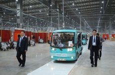 Phái đoàn Triều Tiên của ông Kim Jong Un đến thăm tổ hợp nhà máy VinFast