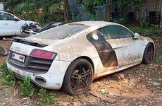Siêu xe Audi R8 thành đống sắt vụn sau thời gian dài bị bỏ rơi