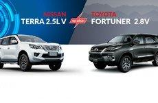 So sánh xe Nissan Terra 2.5V và Toyota Fortuner 2.8V