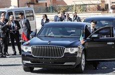 """""""Soi"""" chi tiết Hồng Kỳ N501 tháp tùng Chủ tịch Trung Quốc tại Châu Âu"""