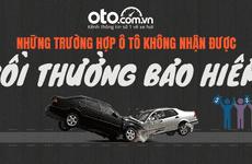 Các trường hợp ô tô không nhận được bồi thường bảo hiểm