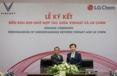 VinFast hợp tác với LG để sản xuất pin xe điện trong nước