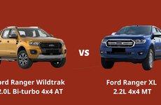 So sánh phiên bản thấp và cao nhất của Ford Ranger 2019