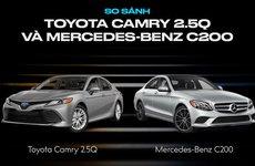 So sánh nhanh Toyota Camry và Mercedes-Benz C-Class: Mẫu nào sẽ hút khách hơn?