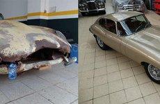"""""""Đồng nát"""" Jaguar E-Type 1965 trở lên đẹp long lanh sau khi được phục chế lại"""