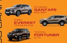 So sánh giá lăn bánh 3 bản cao cấp nhất của Hyundai Santa Fe, Toyota Fortuner và Ford Everest